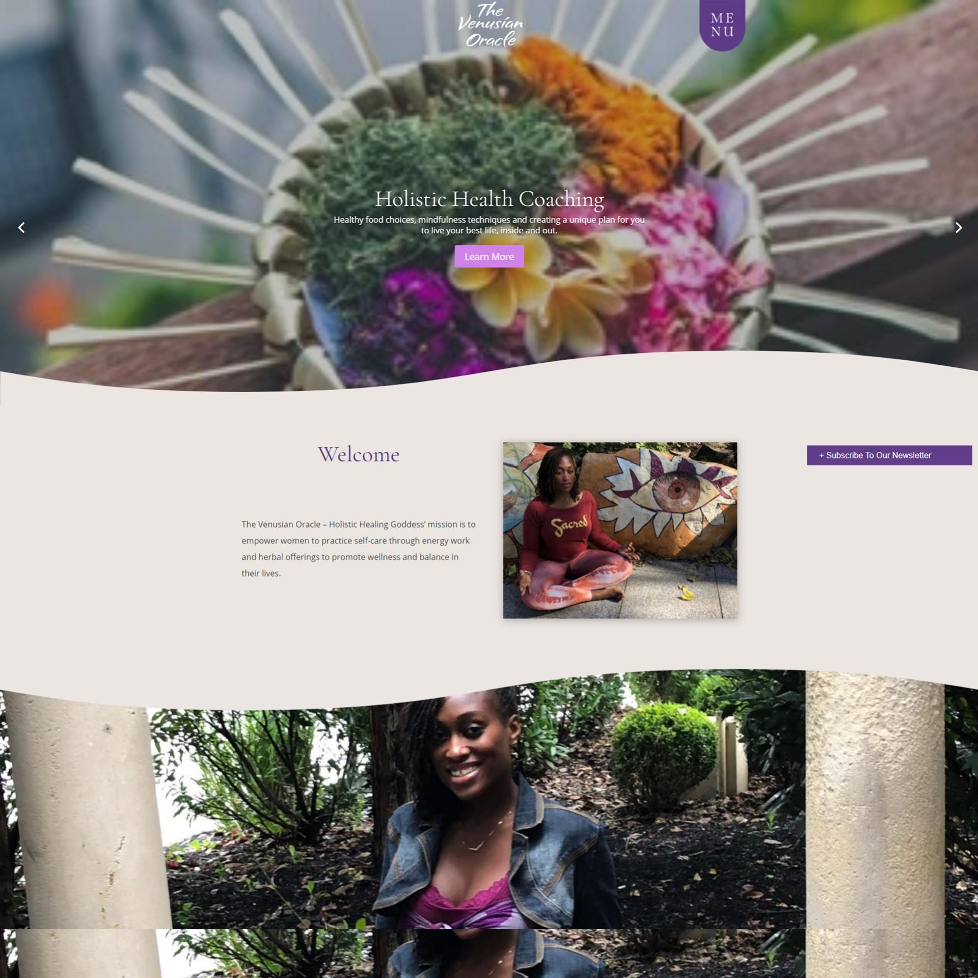 Holistic Healing Goddess Website Design and Development