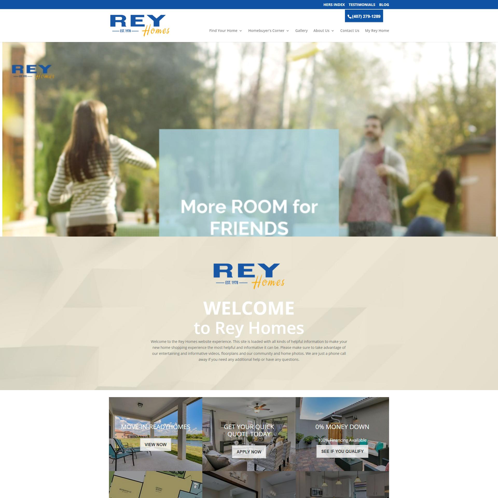 Rey Homes Website Design and Development
